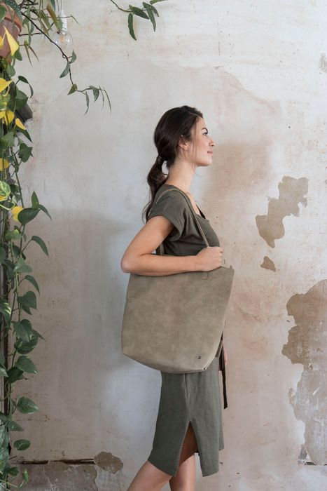 Zusss Basic shopper zwart