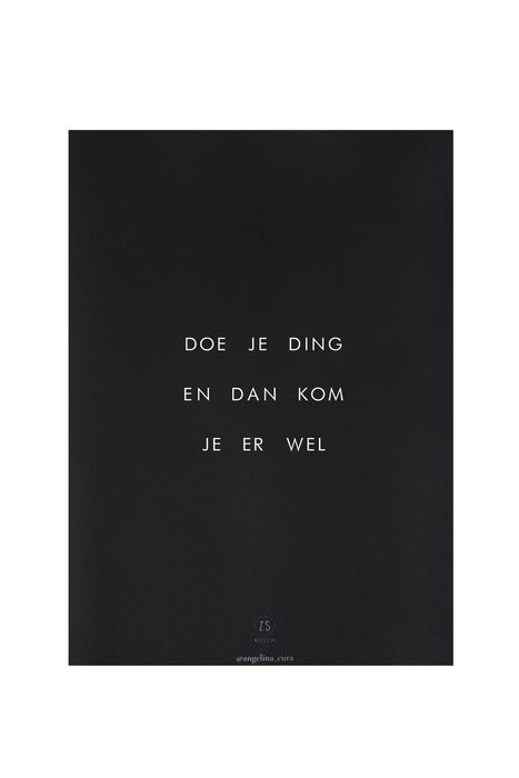 Zusss limited a4 poster doe je ding angelina_cura