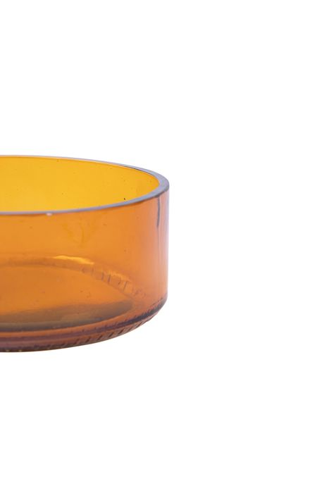 Zusss schaal gerecycled glas amber