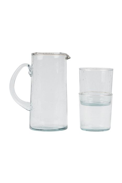 Zusss waterkan gerecycled glas 1000ml